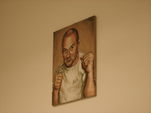 Peinture représentant José Chacon / Crédits Hugo Poulet