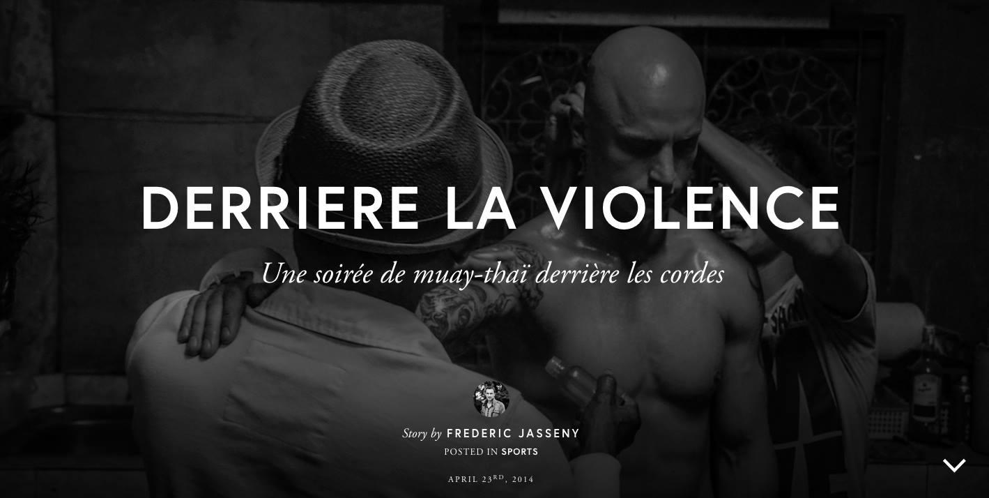 derrière la violence