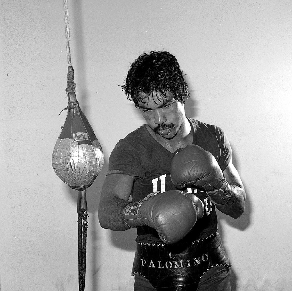Carlos Palomino In training