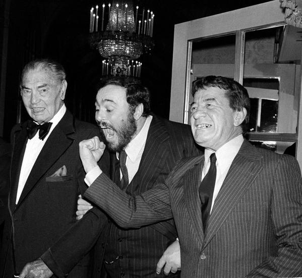 Dempsey, Pavarotti, Graziano - 11 octobre 1980 - Columbus Citizen Committee Benefit Dinner NYC (AP)