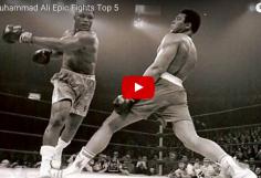 BOUM : les 5 meilleurs combats de Mohamed Ali