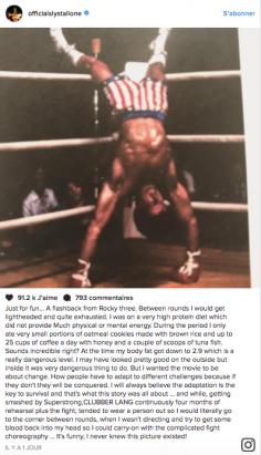 Sly tournait à 25 cafés par jour pendant le tournage de Rocky III