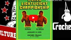 L'AMOUR ET LA VIOLENCE : un grand moment de plaisir avec les pirates de la boxe sur le Roberto Duran d'avant Sugar Ray