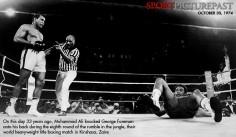 Octobre 1974, Ali s'entraîne au Zaïre