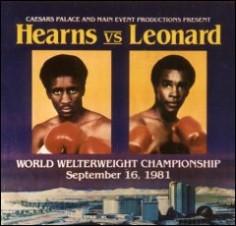 Las Vegas, 16 septembre 1981. Hearns vs. Leonard