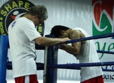Une séance de sparring avec Pacquiao