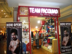Manny Pacquiao ouvre sa boutique